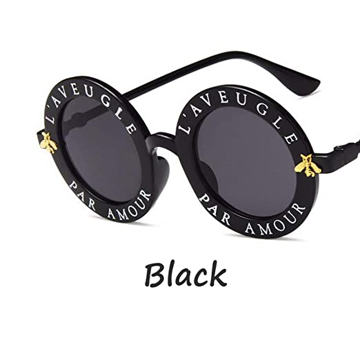 0c80607aea2 Amazon.com  Fashion Sunglasses for women L AVEUGLE PAR AMOUR (Black ...