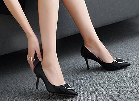MDRW-Signora/Elegante/Lavoro/Tempo Libero/Primavera Testa Acuminata A Fibbie Scarpe Donna Bocca Poco…