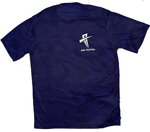 - Mens Short Sleeve - Soul Cool Fit T-Shirt - True Royal Camo Fade