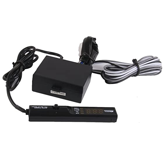 Sharplace Car General Purpose APEXI 12V Digital Turbo Timer Pluma Tipo LED - Blanco: Amazon.es: Coche y moto