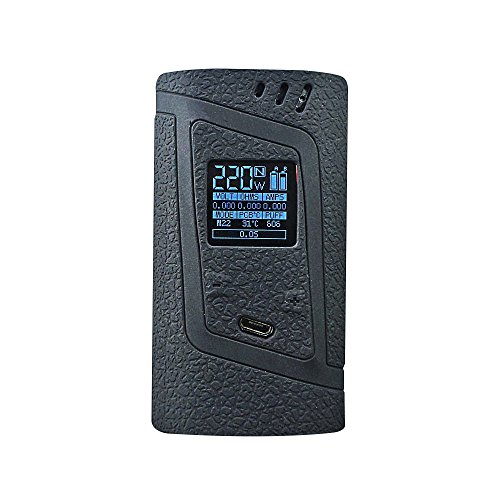 DSC-Mart Protective Case for Smok Alien 220W, Texture Silicone Skin Cover Sleeve Wrap Gel Fits SMOK Alien 220 Watt Kit Box Mod (Black) ()