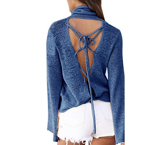 Camicia Inverno Maniche Indietro Apri Donna Shirt Hibote Lunghe Unita T Tinta Basic Top Casual Autunno Collo Sexy Elegante Casual 4 S XL Alto Maglietta Bluse qfp71