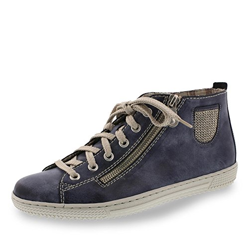 Rieker Vrouwen L9426 High-top Blue