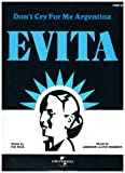 Don't Cry For Me Argentina, from the Opera musical 'Evita' - PIANO SOLO (Sheet Music) Music by Andrew Lloyd Webber
