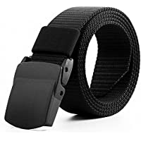 Adeeing Mens Nylon Belt 125CM Automatic Buckle Army Tactical Belt Military Waist Canvas Belts Survival Cummerbunds Strap