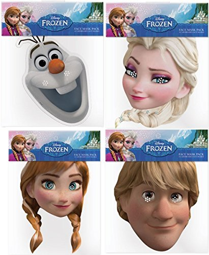 Disney Anna Costumes For Adults (Official Disney Frozen 4 Card Face Masks (Multipack) by Kids Stars)