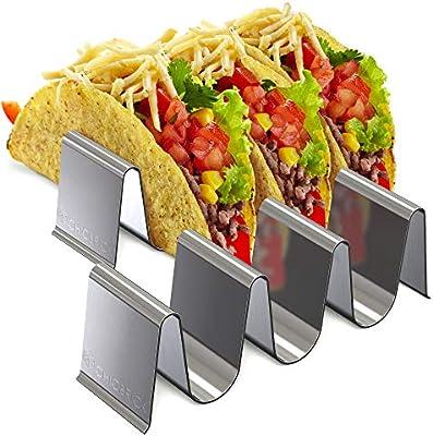 Bandeja de acero inoxidable Taco Holder – Juego de 2 soportes Taco ...
