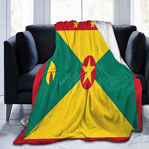 Searster$ Fleece Blanket Bandera de Granada Mantas calidas de Franela Ultra Suave para Sala de Estar Dormitorio Sofa Sofa Silla Oficina Coche,50X40 Pulg