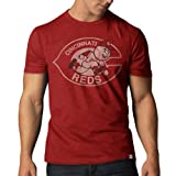MLB Cincinnati Reds Men's '47 Basic Scrum Tee, Rescue Red, X-Large