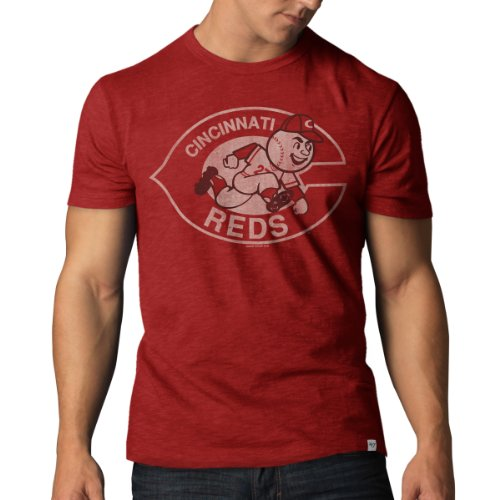 '47 MLB Cincinnati Reds Men's Basic Scrum Tee, Medium, Rescue Red Cincinnati Reds Single