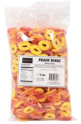 Peach Rings Gummy Candy, 5 Lbs