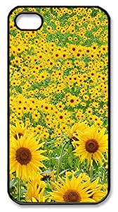 Nature sunflowers Garden PC Case Cover for iPhone 6 plus 5.5 and iPhone 6 plus 5.5 ¡§C Black