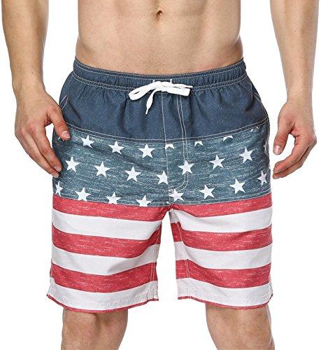 4eebb91e78688 ATTRACO Mens Swim Trunks Summer Beach Shorts Board Shorts Pockets 21 ...