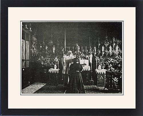 Framed Print Of Abbe Julio Exorcises by Prints Prints Prints