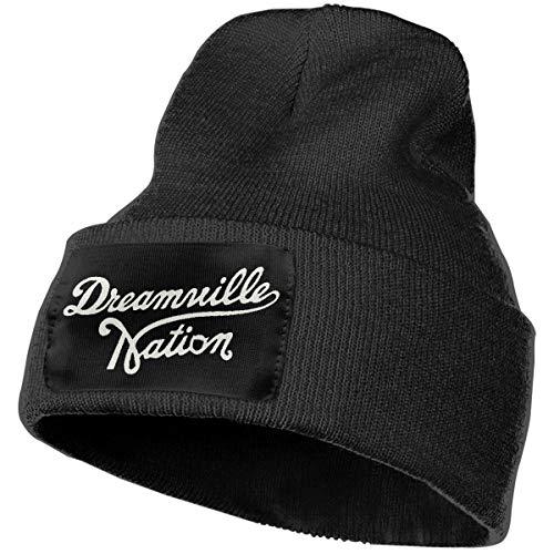 4eb34ebfe66 SLADDD1 Custom Dreamville Records Logo Warm Winter Hat Knit Beanie Skull Cap  Cuff Beanie Hat Winter