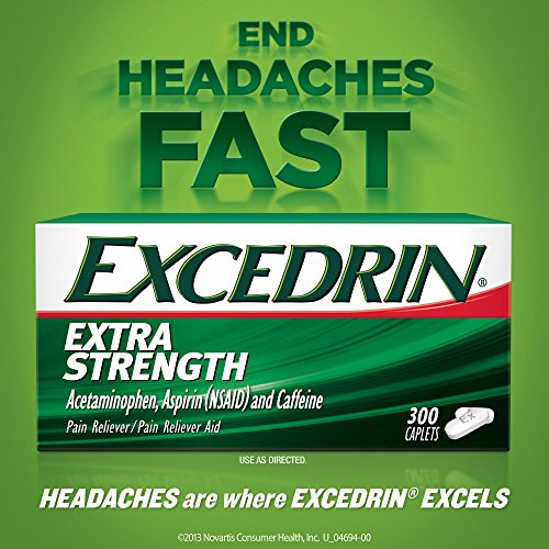 Excedrin Extra-Strength Caplets, 300 ct. (pack of 6) by Excedrin