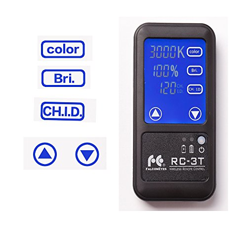 Falcon Eyes RC-3T 2.4G Wireless Remote Control With LCD Touch Screen Control for RX-24TDX/ RX-29TDX /LP-2005TD / LP-2805TD / 2005TD Pro / 2000Pro (RC-3T Remote Control)