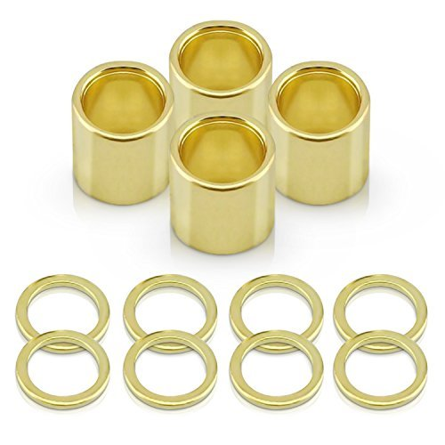 Supafly Skate Company Metal 8-Piece Speed Washer and 4-Piece Spacers for Hardware Skateboard and Downhill Longboards, Gold