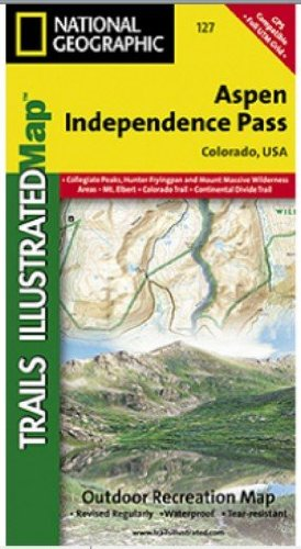 [National Geographic TI00000127 Map Of Aspen-Independence Pass - Colorado] (10th Mountain Huts)
