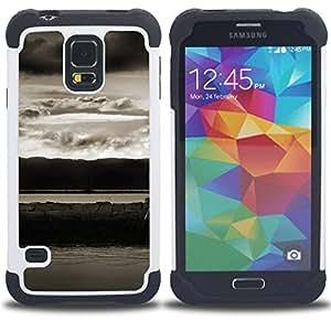 - Abstract Landscape - - Doble capa caja de la armadura Defender FOR Samsung Galaxy S5 I9600 G9009 G9008V RetroCandy