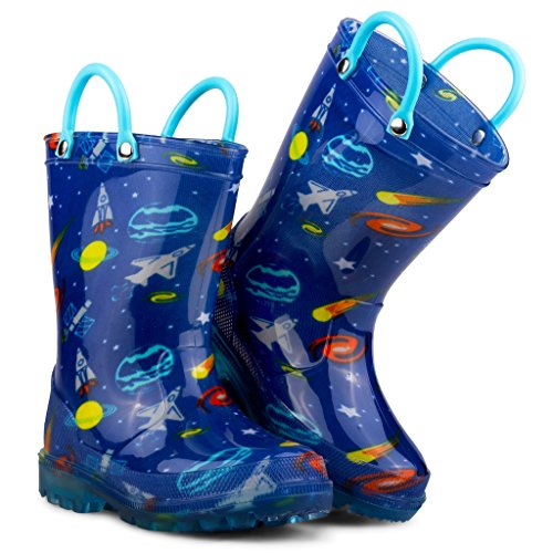 Chillipop Light Up Rainboots For Boys, Girls & Toddlers With Fun Kid Prints With 5 Lights by Chillipop (Image #3)