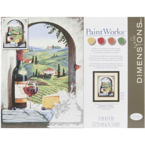 Dimensions Paint by Number Craft Kit, Tuscan View by Dimensions