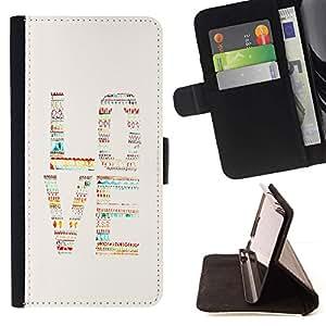 For Sony Xperia M5 E5603 E5606 E5653 Case , Texto del patrón nativo de la acuarela del patrón- la tarjeta de Crédito Slots PU Funda de cuero Monedero caso cubierta de piel