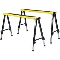 130 cm FROADP Caballetes de metal ajustable hasta 300 kg con altura regulable 80 2 andamios telesc/ópicos de trabajo de caballete plegable