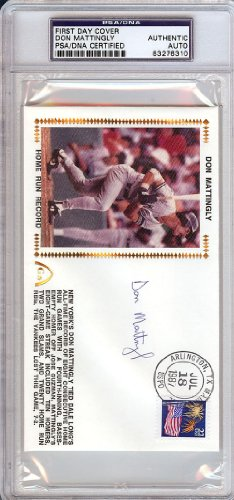 Don Mattingly Autographed/Hand Signed First Day Cover PSA/DNA Slabbed #83276310