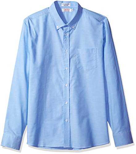 (IZOD Uniform Men's Long Sleeve Button-Down Oxford Shirt, Ox Blue, X-Large)