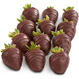 Golden State Fruit 12 Dreamy Dark Chocolate Covered Strawberries