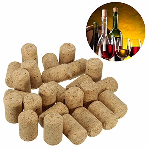 DCDEAL 25pcs Unused Straight Round Bottling Wine Cork Stopper Plug Wine Bottle Cap For Home Wine-Making and Craft SKU969288-EPP7