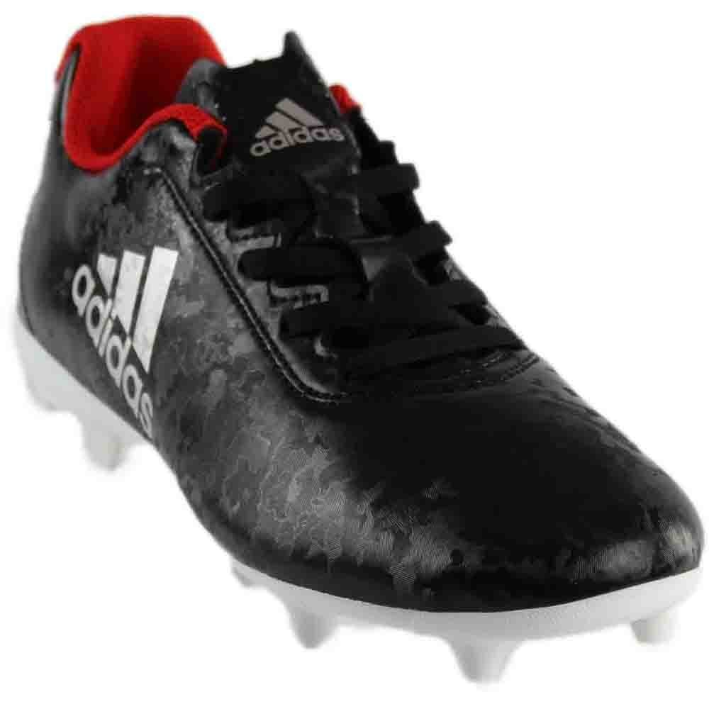 adidas Women's X 17.4 FG W Soccer Shoe, Black/Platino Core Red S, 9 M US
