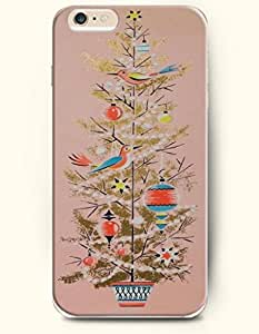 OOFIT Apple iPhone 6 case 4.7 inches - Merry Christmas A Lovely Xmas Tree In Peach Puff Background