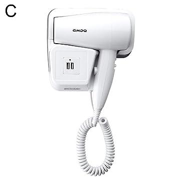 Secador de pelo NimbleMinLki 220 V con soporte de enchufe para hotel, hogar, baño, para colgar en la pared: Amazon.es: Salud y cuidado personal