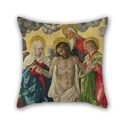 Oil Painting Hans Baldung Grien - The Trinity And Mystic Piet??? Pillow Covers 16 X 16 Inches / 40 By 40 Cm Gift Or Decor For Home Theater Bar Christmas Family Her Bedroom - Each Side ()
