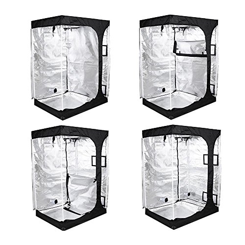 51MfPutFbxL - LAGarden 2in1 Hydroponics Indoor Grow Tent Growing Planting Room Propagation and Flower Sections