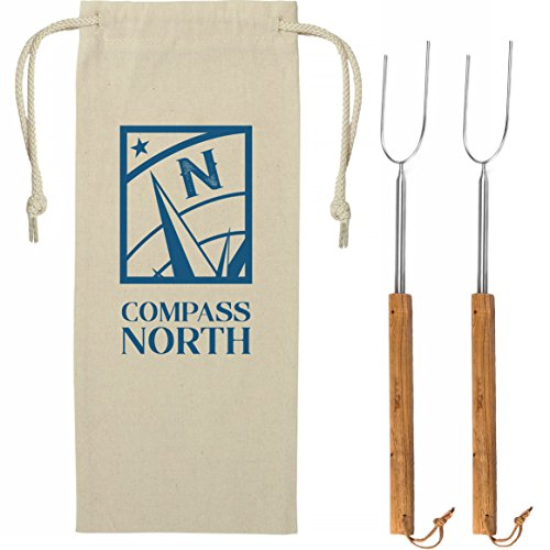 - Go Compass North Longest 6 Foot Marshmallow Roasting Sticks - Be Safe Around Alaskan Size Campfires Cooking hot Dogs and S'Mores. Set of 2 Stainless Forks - Satisfaction Guarantee!