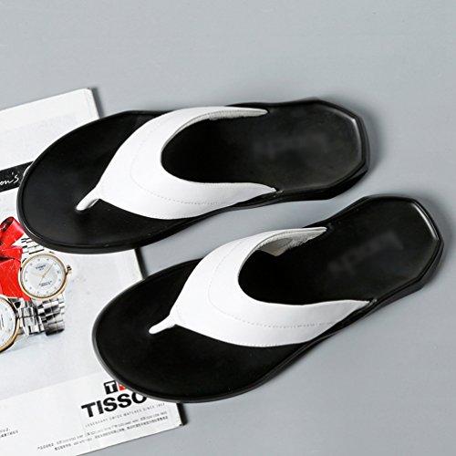 Open Uomo Moda da Bianca E Comodi Pantofole Tempo Pelle Antiscivolo Leggeri in Toe Yujeet Sandali Libero T5d4q6qwx