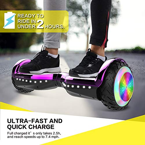 CITY CRUISER Hoverboard with Bluetooth Speaker, LED Light by UL 2272 Certified Best Gift for Kids Purple by CITY CRUISER (Image #3)
