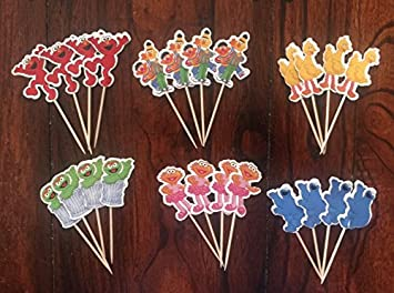 Image Unavailable Not Available For Color Sesame Street Elmo Cupcake Toppers Birthday