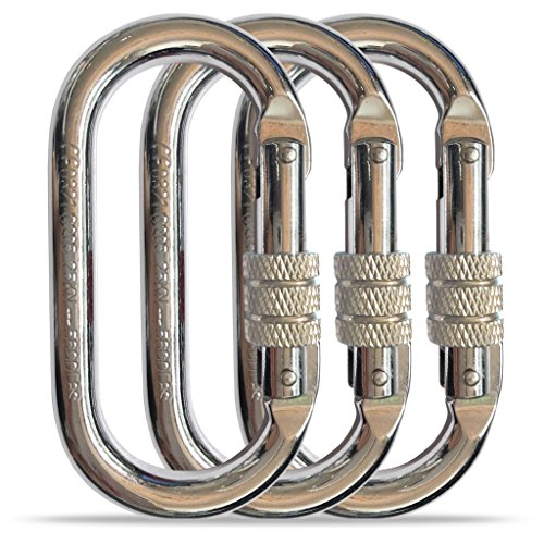 O-Shaped Steel Climbing Carabiner25kn=5600lbScrew