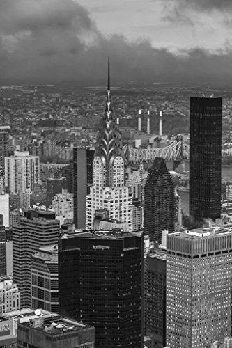 Aerial Shot Chrysler Building New York City Photo Art Print