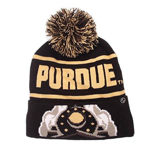 Team Colors Knit Beanie (NCAA Purdue Boilermakers Men's Bandit Knit Beanie, One Size, Team Color)