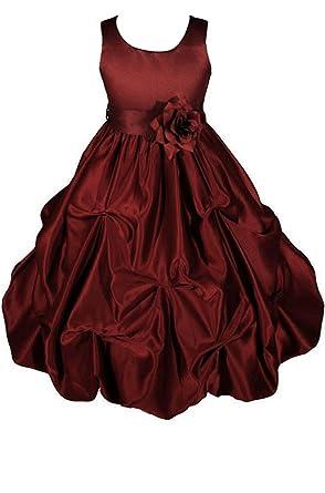 3a7d8b1af1d56 Amazon.com: AMJ Dresses Inc Big Girls' Satin Flower Girl Communion ...