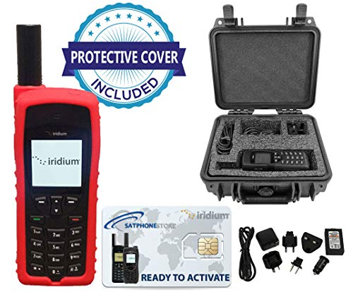 SatPhoneStore Iridium 9555 Satellite Phone Deluxe Package with Pelican Case, Silicon Protective Case and Blank Prepaid SIM Card Ready for Easy Online Activation