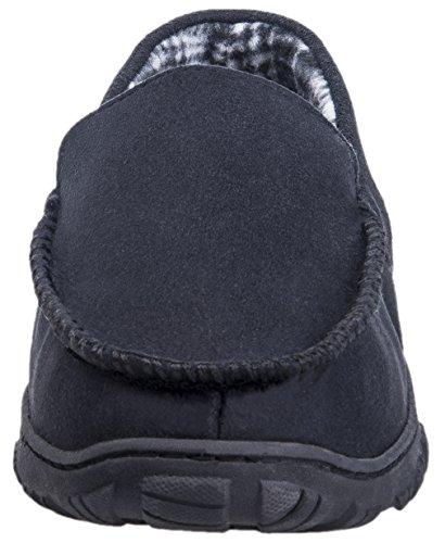 Mixin Heren Casual Antislip Rubberen Zool Indoor Outdoor Slip Op Rijden Instappers Moccasins Pantoffels Schoenen Zwart