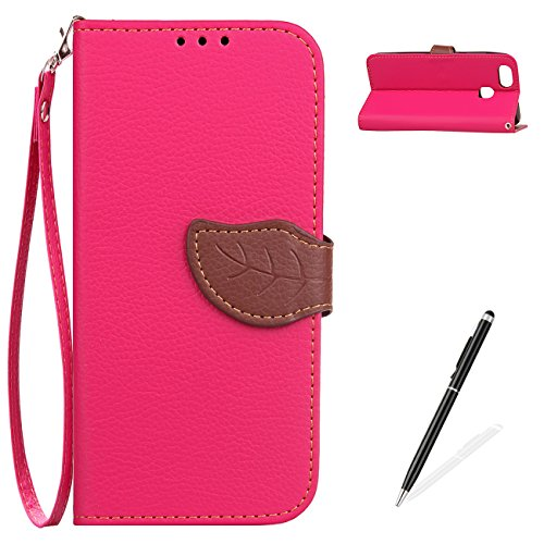 MAGQI ASUS ZenFone 3 Zoom (ZE553KL) Case, Retro Two-Color Design Handmade Cover,Premium PU Leather Slim Wallet Case Detachable Hand Strap Stand Function Card Slots Book Protective Skin Shell - Pink