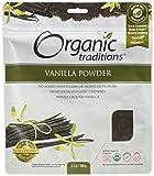 Organic Traditions Organic Powder, Vanilla, 3.5 Ounce