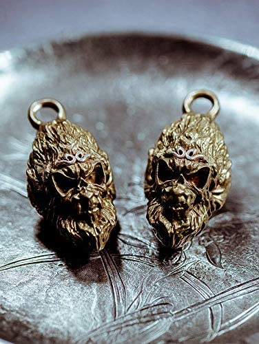Dark The Monkey King Keychain Key Ring Pendant Brass Solid With Silver